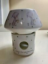 New Enesco Precious Moments 1987 Porcelain Tea Light Was Holder/Candle Holder