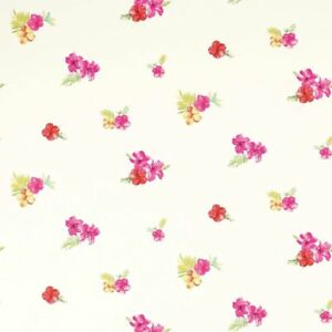 BNIP LAURA ASHLEY KIDS WALLPAPER TROPICAL FLOWERS CERISE BATCH W094978-A/1