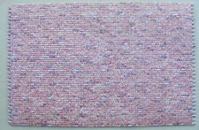 1:12 Scale Dolls House Red Embossed Brick Wallpaper DIY 48.5cm x 31.5cm
