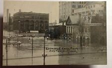 FLOOD SCENE LOOKING EAST FROM 4th STREET DAYTON OHIO POSTCARD EARLY1913 #1314a