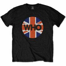 The Who Union Jack Bandera Círculo Camiseta Hombre Unisex Oficial Merchandising