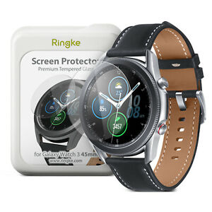 For Samsung Galaxy Watch 3 45mm Screen Protector Ringke ID Tempered Glass 4 Pack