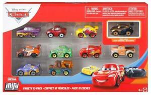Disney Pixar Cars Mini Micro Racers Vehicles Variety 10 Pack Assortment
