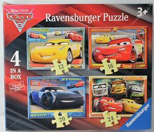 RAVENSBURGER PUZZLE DISNEY CARS LET'S RACE 4 IN A BOX 068944 2017 CZECH COMPLETE