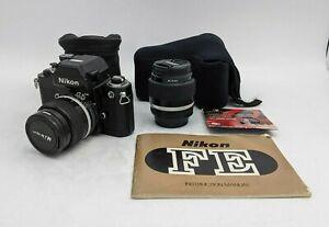 Nikon F2 Photomic AS Camera Black w/ Nikkor 85mm 1:2/35mm 1:14 Lenses -SB3547