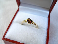 .55 Ct. Garnet Solitaire & Diamond  10k Gold Ring