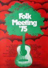 FOLK MEETING - 1975 - Konzertplakat - Campbell - Ray Austin - Jansch - Poster