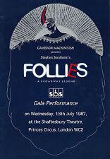 "Stephen Sondheim ""FOLLIES"" Dolores Gray / Diana Rigg 1987 London Gala Program"