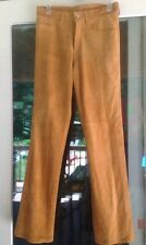 """WOMENS NWT LUCKY BRAND JEANS SUEDE LEATHER 5 POCKET SIZE 8 29""""W NUBUCK MSRP $225"""