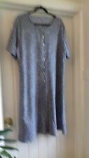 Brand New 3XL Airydress navy / white print short sleeve button through dress