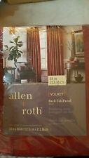 """New Allen + Roth Volney Back Tab 84"""" Curtain Panels spice red back tabs nip"""