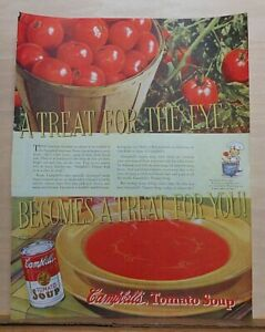 1937 magazine ad for Campbell's Tomato Soup, Treat for Eye becomes treat for you