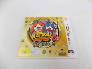 Like New Nintendo 3DS Yo Kai Yo-Kai Watch 2 Fleshy Souls II  Free Postage