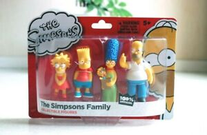 Pack de 4 Figurines Les Simpsons Lansay - Simpsons Family collectible figures