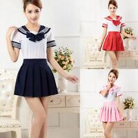 3Pcs Japanese School Uniforms Anime COS Sailor Suit JK Students Clothes Cost Hs