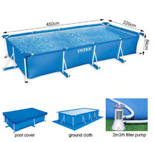 INTEX Frame swimming Pools Summer Waves Above-Ground Set New with Filter Pump