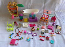 Lot Collection Of 62 Doll House Barbie Toys Random Accessory accessories Items