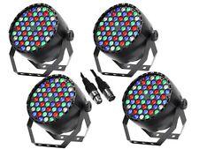 4 x Equinox Midipar RGBW 54 X 1W LED Par Can Lighting DJ Disco DMX Light Effect