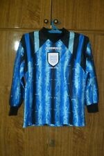 England Umbro Goalkeeper Football Shirt GK 1997/1998 Blue Boys Size 146 cm 10/11