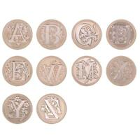 DIY Retro 26 Alphabet Letter Wax Paint Envelope Sealing Copper Head Decor Stamp