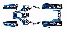 Yamaha Warrior 350 Graphics Decal kit Free Custom Service #2500-Blue