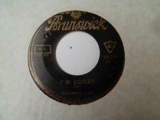 "SP 7"" - BRENDA LEE - I'm Sorry - VG - BRUNSWICK - RARE 12220  FRANCE - 1960"