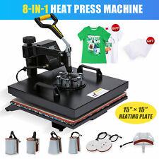 360 Swing Away Press 8 In 1 T Shirt Heat Press Machine With 15x15 Heat Pad More