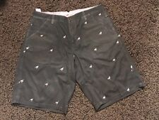 Staple Mens Embroidered Shorts Navy