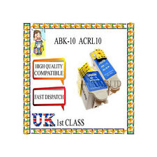 6 Cartucce di inchiostro compatibili 10XL ABK10 & ACLR 10 per ADVENT A10 AW10 AWP10