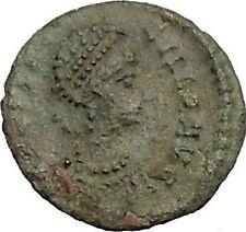 AELIA FLACILLA Ancient Roman Coin VICTORY Cult CHI-RHO Christ monogram  i52841