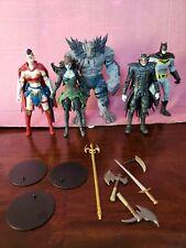 Mcfarlane DC Multiverse 8 Figure Lot Batman Joker Deathstroke Wonder Woman