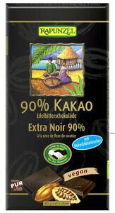 KS  (6,49 EUR/100 g) Rapunzel 90% Kakao Edelbitterschokolade bio 80 g