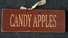 Home Decor Wood Sign 15 X 5.5 Candy Apples