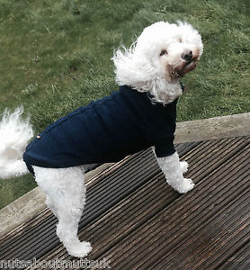 ANCOL BLUE WARM DOG PUPPY JUMPER THERMAL KNITTED SWEATER -NUTS ABOUT MUTTS
