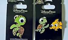 FINDING NEMO lot of 3 Disney Park Pins SQUIRT turtle and NEMO - NEW