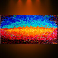 Christmas Gift Gold Original Abstract Painting Oil Modern Large Home Canvas XXXL