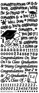 PEEL OFF STICKERS - GRADUATION - CARD MAKING - CRAFTING - 776