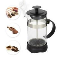Portable French Press Coffee Maker with Heat Resistant Glass Steel Filter 12oz