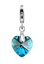 ELLI Charm »herz - Swarovski Elements« Blue