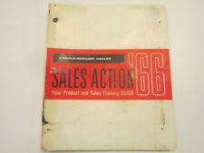 1966 Lincoln Mercury Dealer Sales Action Product and Training Guide Manual Book