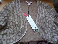 Jacques Vert Espresso / Gold  Bolero Shrug ( 16 fits 14-16 ) lace NWT Wedding
