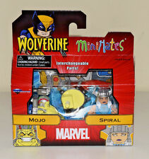 Mojo & Spiral Minimates Marvel Wolverine Series 72 2pack Diamond Select - NEW