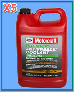 5 Gallon Premium Diluted Engine Coolant/Antifreeze Motorcraft VC5DIL 50/50 Green