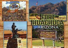 Fort Huachuca Arizona, Headquarters of Buffalo Soldiers, Statue etc. -- Postcard