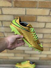 Nike Hypervenom FG Football Boots (Pro Edition) Size UK 9 *Neymar Liquid Gold*