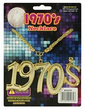 Années 1970 Collier Disco Fever or Bling Fantaisie Accessoire Robe Adulte