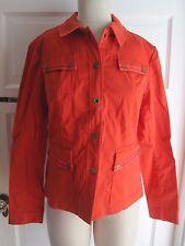$129 Womens Jones New York Stretch Jacket Denim Jean Style Snap Up Nectarine