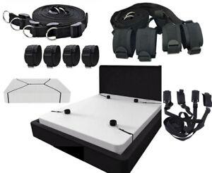 Under Bed Restraint System Mattress Bondage Wrist Ankle Straps Cuffs Sex Toy UK