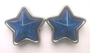 JDM Blue Star-Shaped Indicator Marker Lamps Set - 90mm 12V5W