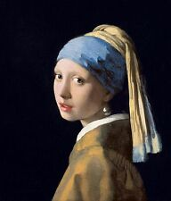 """Johannes Vermeer Painting Poster or Canvas Print """"Girl With a Pearl Earring"""""""